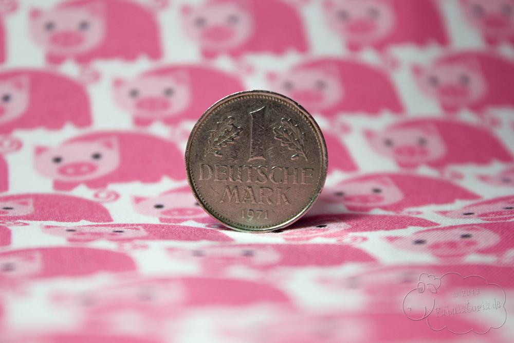 1 Deutsche Mark als Glücksbringer